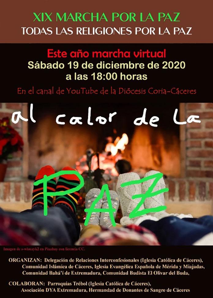 La XIX Marcha por la Paz de Cáceres será online