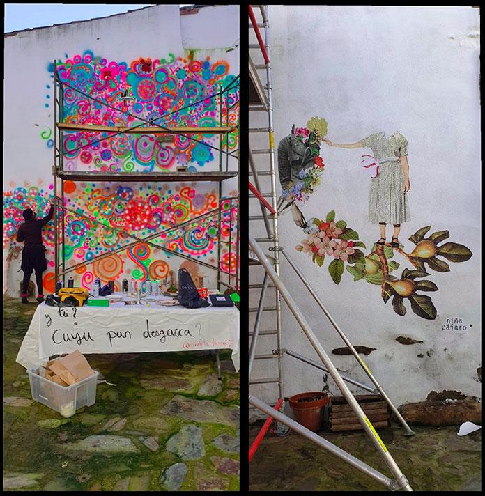 Conchita Luceño y Niñapajaro presentan sus propuestas en el Contenedor de Arte de Garrovillas