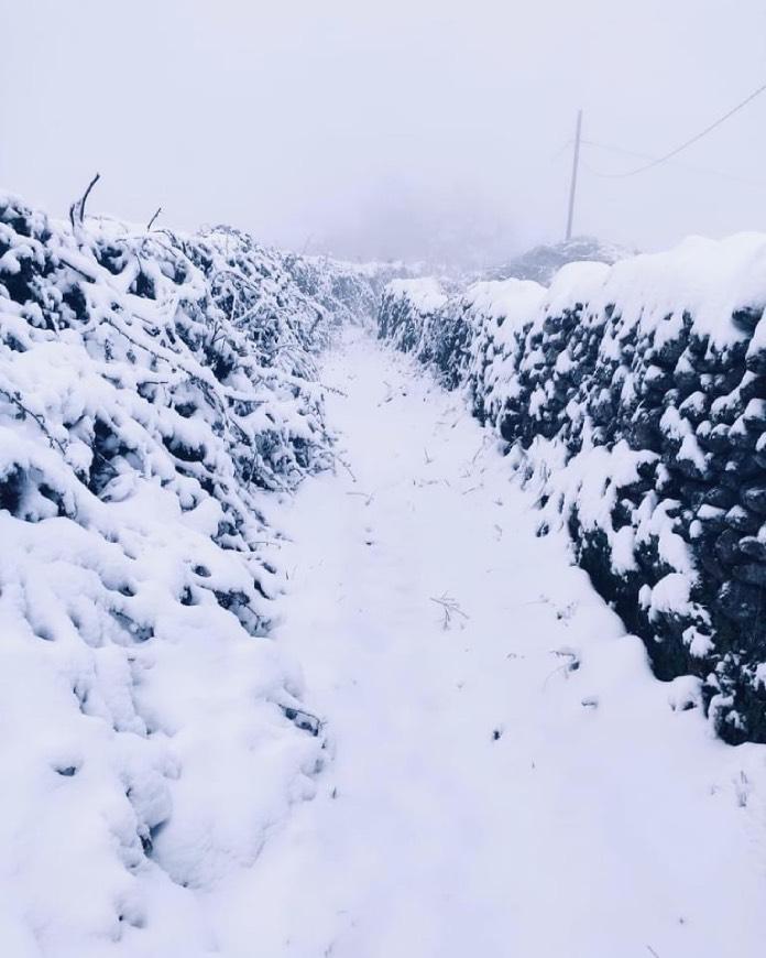Filomena deja hasta 10 centímetros de nieve en las zonas altas de la provincia de Cáceres