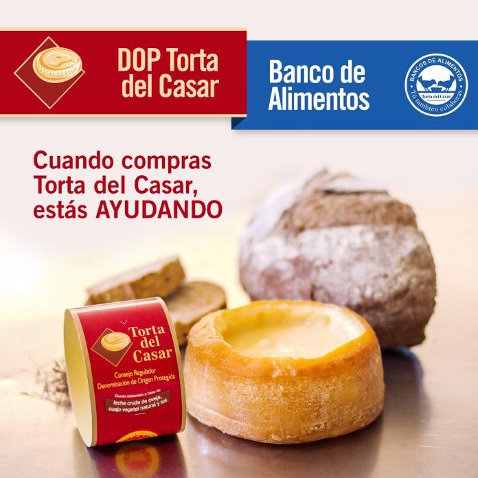 La DOP Torta del Casar dona 5.200 euros al Banco de Alimentos