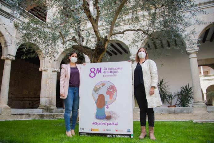 Extremadura celebra el 8M con un acto institucional y el lema Objetivo Igualdad