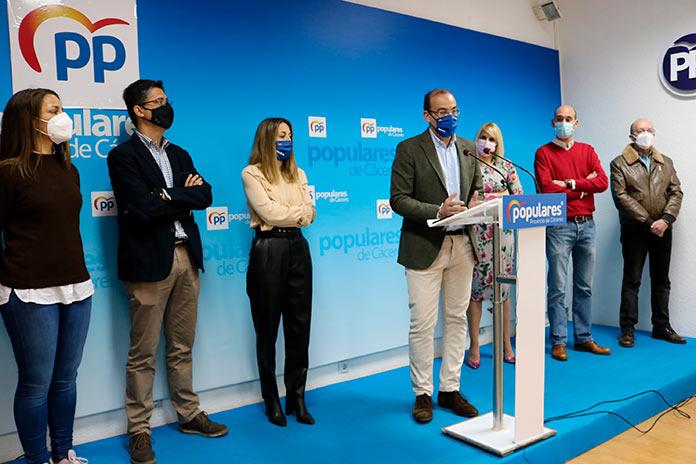El PP de Cáceres critica que la ciudad esté a la cola de la industrialización en Extremadura
