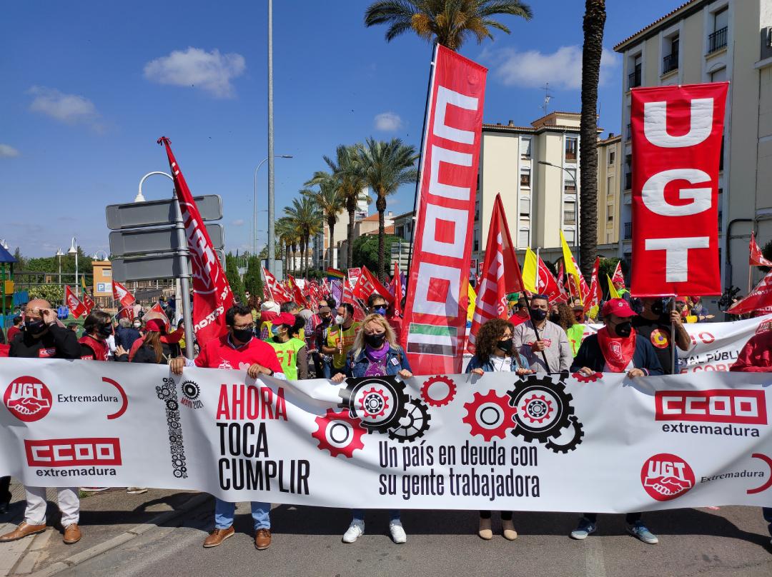 Los sindicatos exigen al Gobierno cumplir con la clase trabajadora este 1º de Mayo