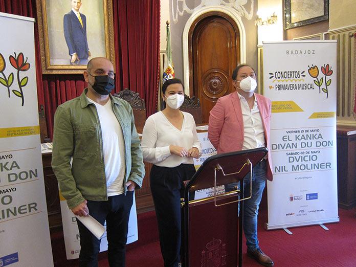 El Kanka, Diván du Don, Dvicio y Nil Moliner, estrellas de la Primavera Musical de Badajoz