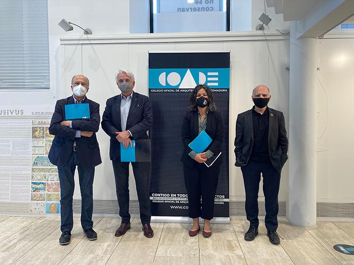 Los colegios de arquitectos de la EUROACE firman un convenio en Badajoz