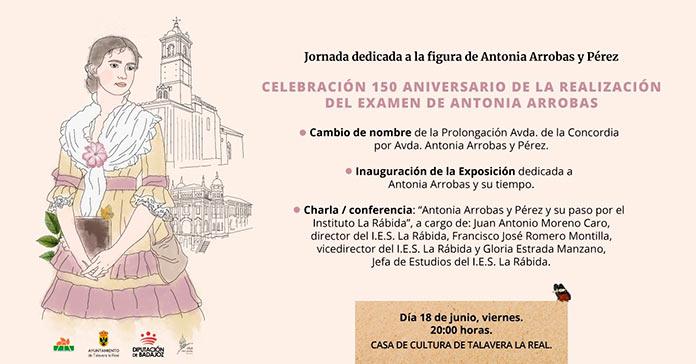 Antonia Arrobas, primera mujer que estudió Secundaria en España, homenajeada en Talavera la Real