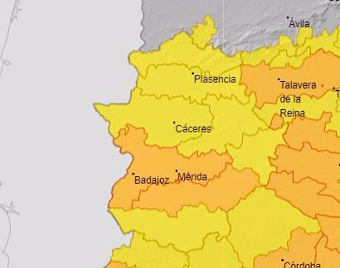 Archivo - Avisos por altas temperaturas en Extremadura. - AEMET