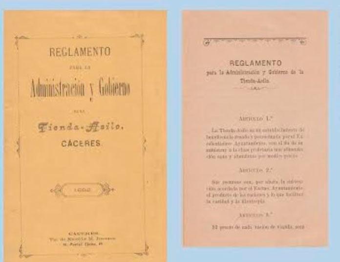 El reglamento de la Tienda Asilo de 1892, documento del mes