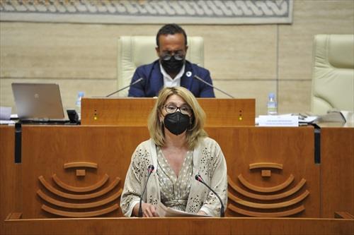 Cristina Teniente en la Asamblea