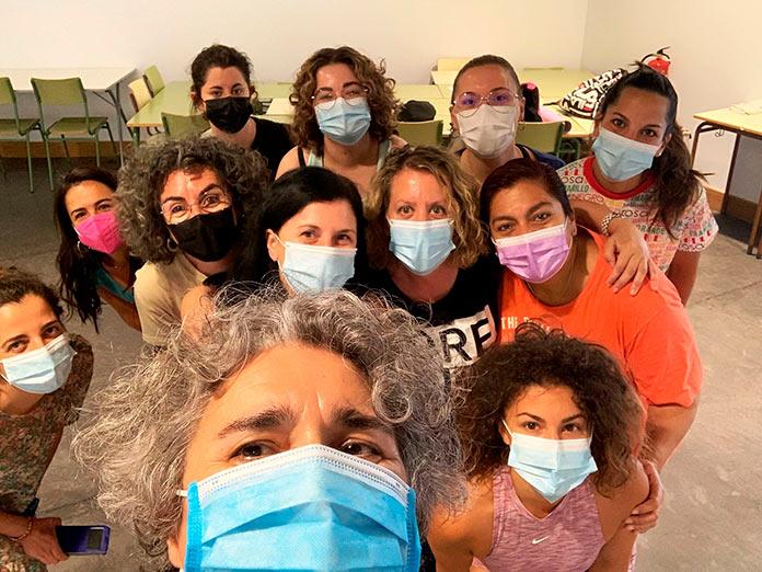 Quince mujeres participan en Cáceres en un taller de autodefensa