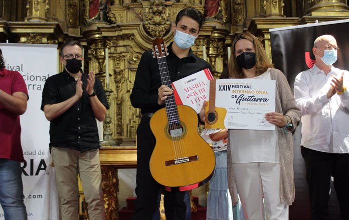Ganador del concurso del XXIV Festival Internacional de Guitarra de Coria