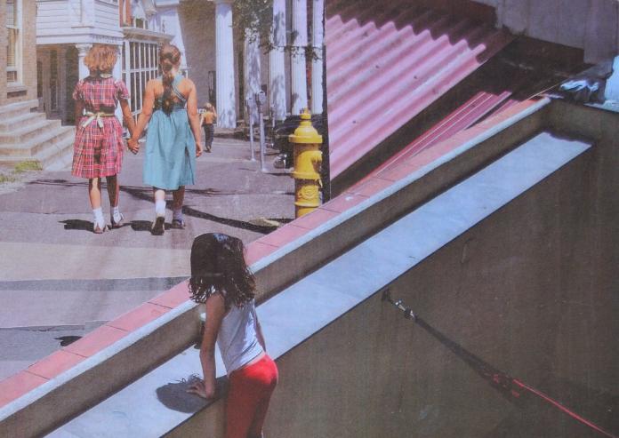 El artista local Ahí-ku expone sus collages en Casas de Miravete