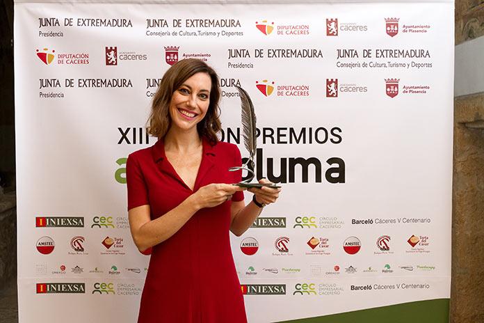 Cristina GallegEl Premio Avuelapluma es mi primer reconocimiento en casa