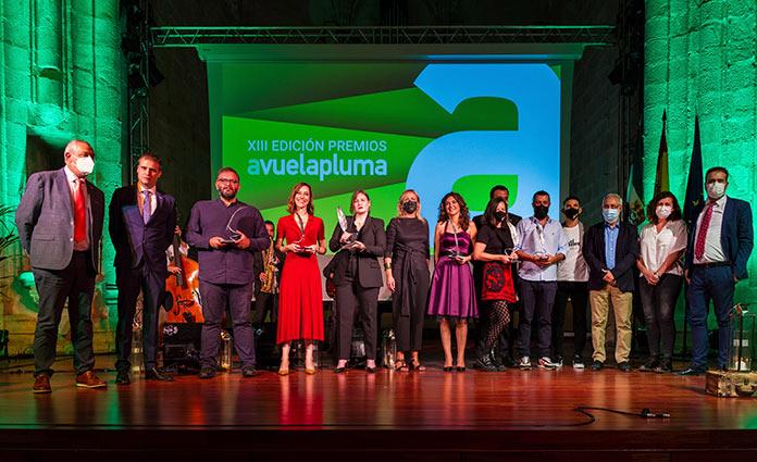 La libertad de expresión y la cultura protagonizan la gala de la XIII edición de los Premios Avuelapluma