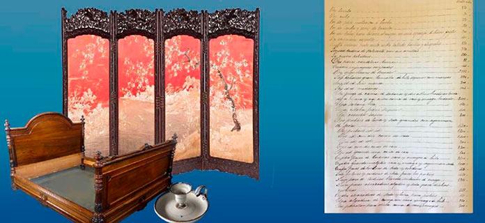 La lista de objetos de Alfonso XII, documento del mes de octubre
